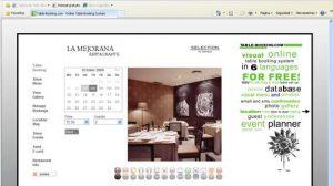 Portal web sobre gastronomía
