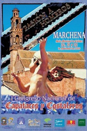 Cartel de Primer Congreso Nacional de capataces y costaleros que tendrá lugar en Marchena
