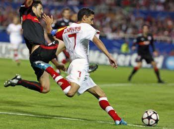 Navas fue el autor del único gol del Sevilla/SevillaFC