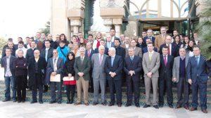 Los representantes dela Fundación durante el acto del año pasado