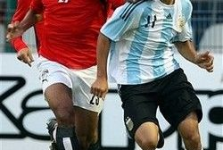 Perotti debutó ante España con la selección Argentina