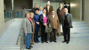 El Director del Distrito Sanitario con algunos miembros de las asociaciones.