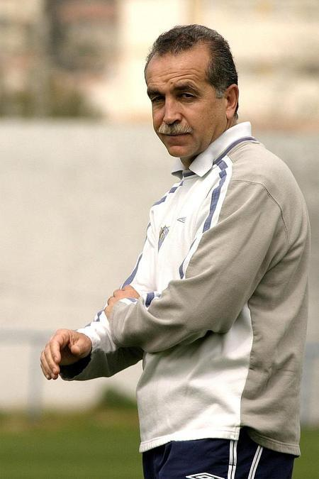 Antonio Tapia en su etapa como entrenador del Málaga CF