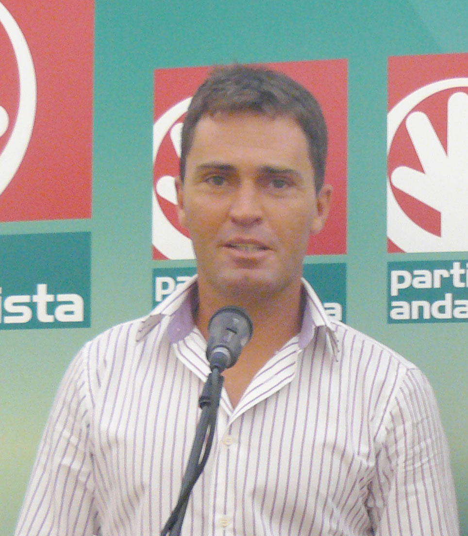 El alcalde de Alanís, Cecilio Fuentes