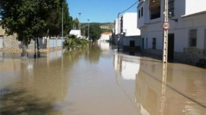 Las inundaciones han afectado a muchas calles de ambas localidades