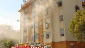 Incendio en una vivienda de la barriada de Felipe II/SA