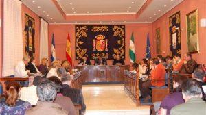 El momento del registro de la bandera en el Registro Andaluz de Entidades Locales
