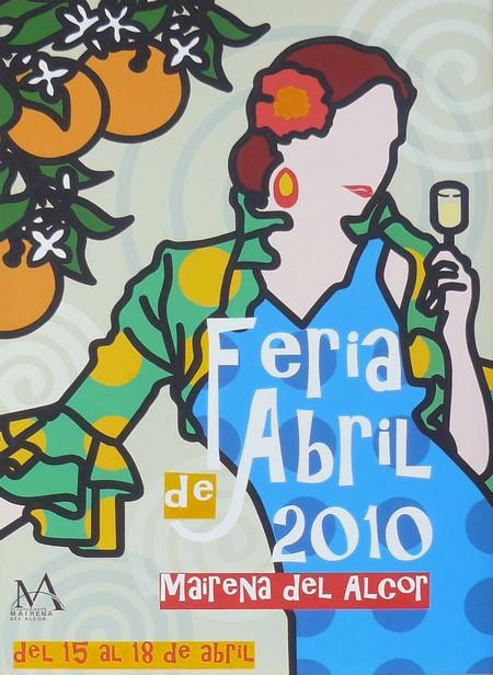 Cartel de la Feria de Abril 2010 de Mairena del Alcor./SA