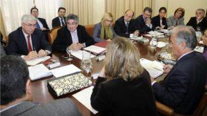 La Junta y el Gobierno, durante la celebración de la comisión
