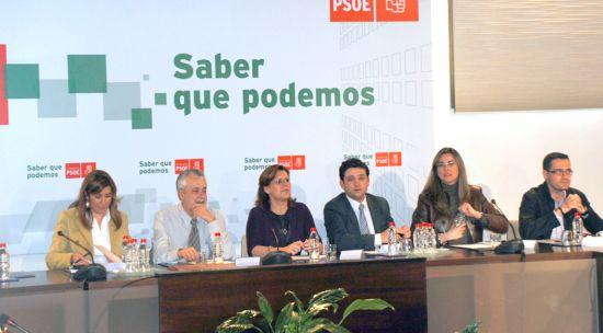 El presidente Griñán, en la última Comisión Ejecutiva Regional celebrada ayer
