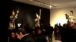 La exposición del nuevo misterio del Puente del Cedrón de la Hdad. de la Milagrosa cierra esta tarde sus puertas con la asistencia de cientos de cofrades / Daniel Valencia