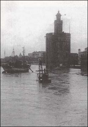 El nivel del río subió mucho en la inundación de 1947/antonio