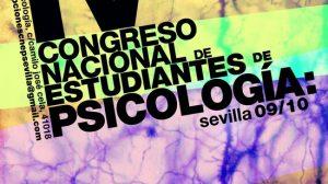 Cartel del IV Congreso de estudiantes de psicología