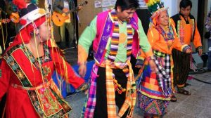Momento del I Festival intercultural de Gines