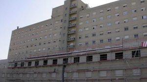Parte trasera del Hospital de Valme/SA.