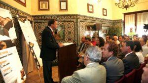 El alcalde de Sevilla, Alfredo Sánchez Monteseirin en el presentación del proyecto