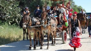 La Hermandad de Lebrija camina hacia El Rocío