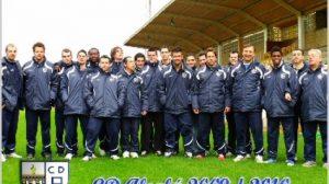 Foto oficial de la plantilla y el cuerpo técnico del Club Deportivo Alcalá / CDAlcalá