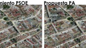 Tras la presentación del Plan Centro el PA ha propuesto una remodelación en las obras previstas/PA.