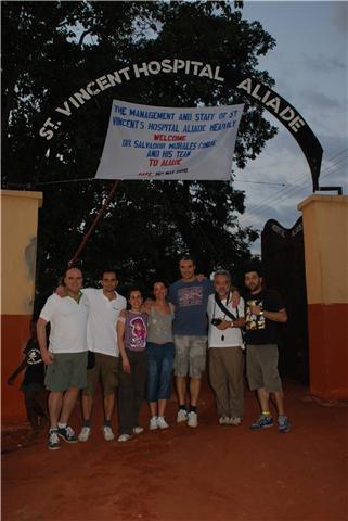 Parte del equipo durante la expedición
