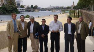 Momentos de la presentación del proyecto de adecuación turística del Muelle de Nueva York