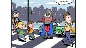 El superhéroe difundirá la seguridad vial a través del cómic