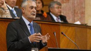 José Antonio Griñán durante su intervención de hoy