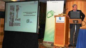 Juan Ribas en una conferencia sobre fisioterapia deportiva / SA