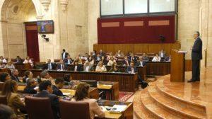 José Antonio Griñán, en su intervención ante el Pleno en el Debate sobre el Estado de la Comunidad