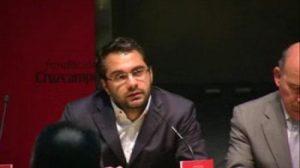 Víctor Orta en la presentación de 'Goles por la Igualdad' / SevillaFC