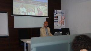 Carlos Rosado, en un momento de su conferencia
