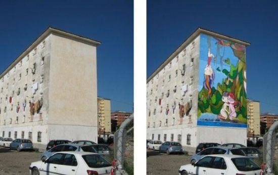 En todos los murales se plasmará un mensaje de concienciación social sobre los Objetivos del Milenio