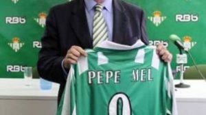 Imagen de la presentación de Pepe Mel como nuevo entrenador del Betis/Rbb