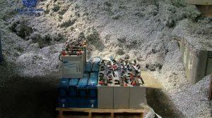 Hasta 24 baterías de antenas de telefonía móvil han podido ser recuperadas en el dispositivo/SA
