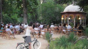 El concierto se realizará en el templete de la isltea de los patos, dentro del Parque de María Luisa. /SA