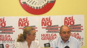 Pilar Marín y Manuel Pastrana, durante la rueda de prensa de ayer en Sevilla/SA