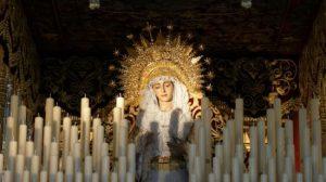 Virgen de Regla en su paso para la Coronación/ Manuel Jesús Rodríguez Rechi