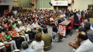 Más de 800 asistentes se han dado cita esta noche en la Asamblea de Blas Infante, en Sevilla
