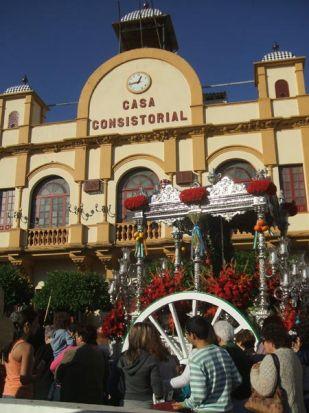 Salida de la hermandad de Camas hacia el Rocio/ Sevilla Actualidad