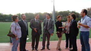 Las autoridades visitaron las instalaciones donde se desarrollarán las miniolimpiadas