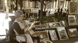 La Plaza del Museo se convierte en una galeria de arte todos los donimgos. /JAcobo Portillo