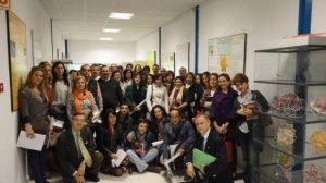Alumnos, profesores y personalidades políticas en el Concurso de Matemáticas hoy.