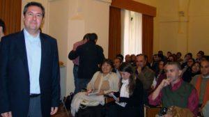Juan Espadas en las jornadas universitarias en la Facultad de Geografía e Historia.