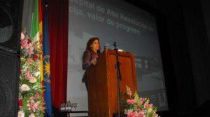 La Consejera de Salud de la Junta de Andalucía presentando proyecto del Hospital en Écija