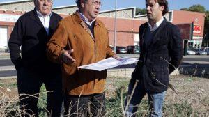 Juan Ignacio Zoido en el solar del Distrito Sur.