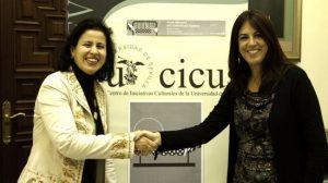La directora de AVA, May Silva Ortega, y la directora del Cicus, Concepción Fernández Martínez.