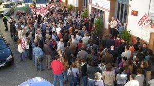 Lola Aquino apoyó la concentración de libertad de expresión en el Gutiérrez de Alba