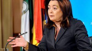 Mar Moreno, consejera de la Presidencia de la Junta de Andalucía, en el Consejo de Gobierno de esta semana
