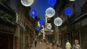 Boceto de la iluminación navideña de la calle Sierpes