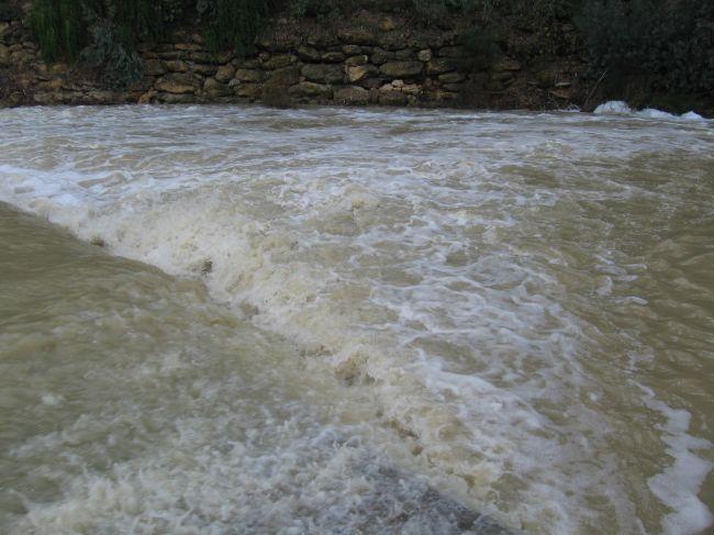 Imagen del cauce del río tomada este domingo